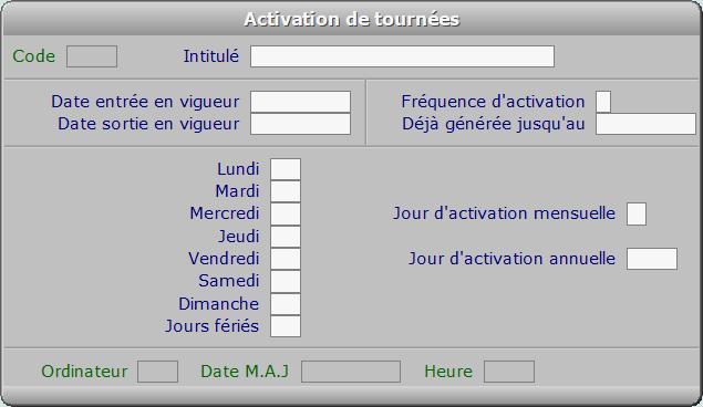 Fiche activation de tournées - ICIM COURSE