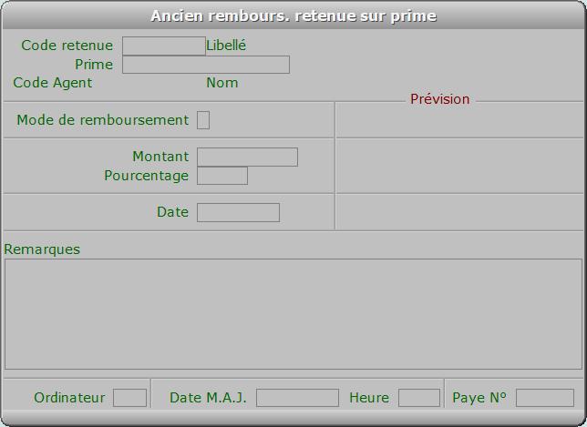 Fiche ancien rembours. retenue sur prime - ICIM RESSOURCES HUMAINES