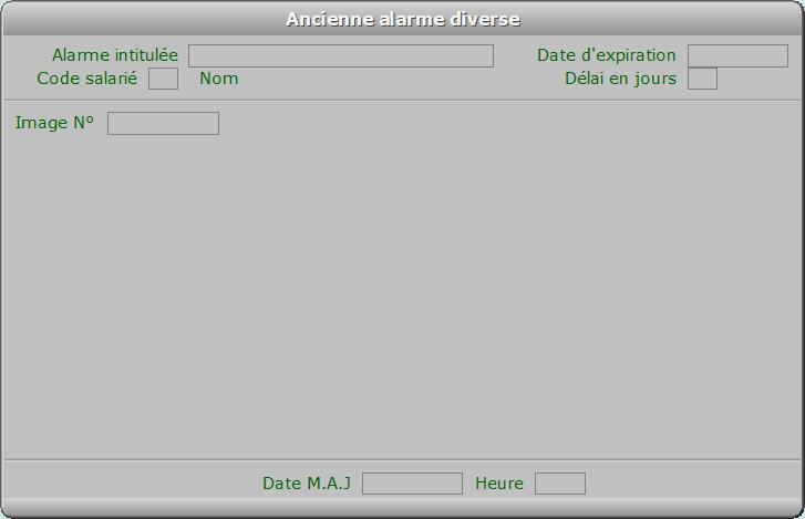 Fiche ancienne alarme diverse - ICIM PAYE