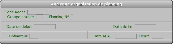 Fiche ancienne organisation de planning - ICIM RESSOURCES HUMAINES