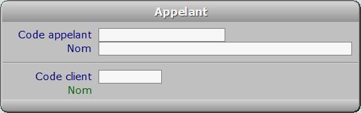 Fiche appelant - ICIM FACTURATION