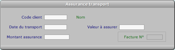 Fiche assurance transport - ICIM FACTURATION