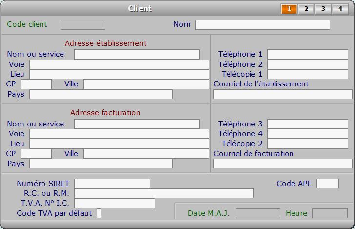 Fiche client - page 1 - ICIM FACTURATION