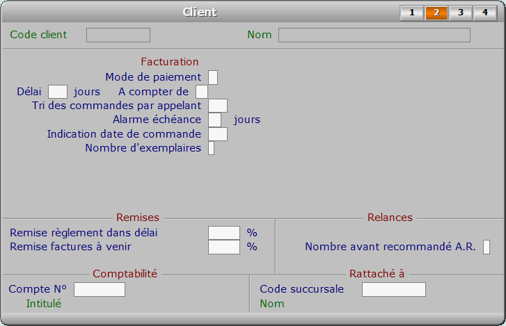 Fiche client - page 2 - ICIM FACTURATION