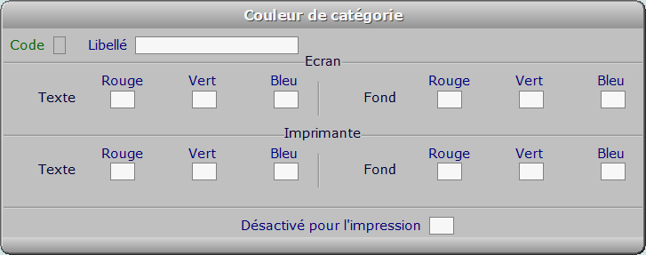 Fiche couleur de catégorie - ICIM COURSE