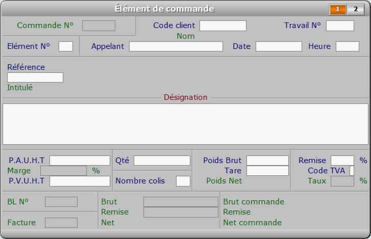 Fiche élément de commande - page 1 - ICIM FACTURATION