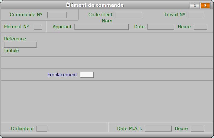 Fiche élément de commande - page 2 - ICIM FACTURATION