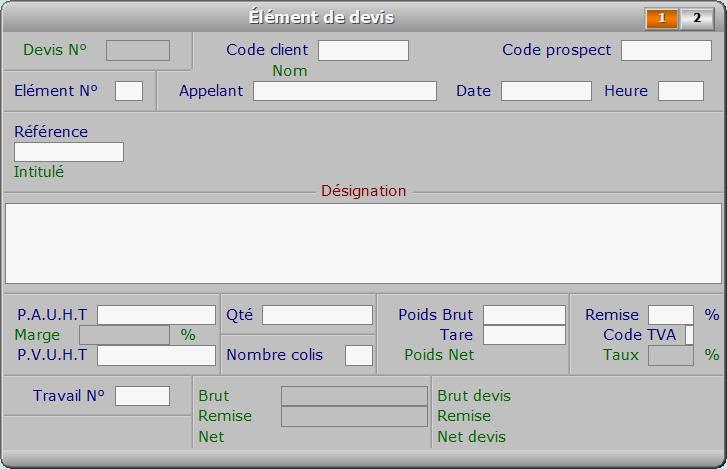 Fiche élément de devis - page 1 - ICIM PROSPECTION