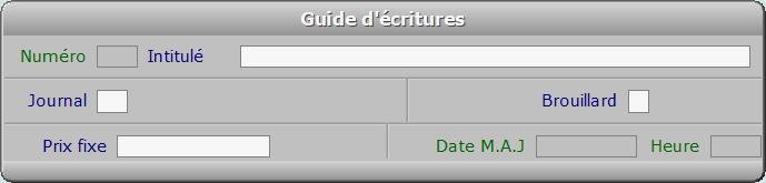 Fiche guide d'écritures - ICIM COMPTABILITE