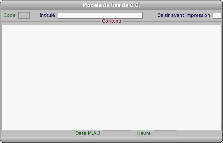 Fiche modèle de bas de C.C. - ICIM FACTURATION