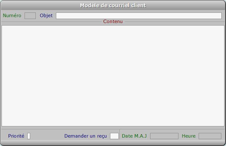 Fiche modèle de courriel client - ICIM COURSE