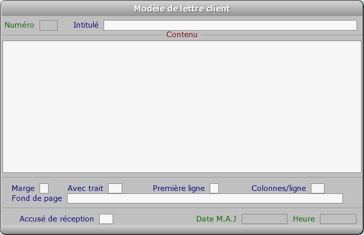 Fiche modèle de lettre client - ICIM COURSE