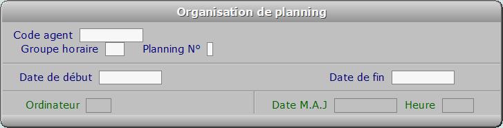 Fiche organisation de planning - ICIM RESSOURCES HUMAINES