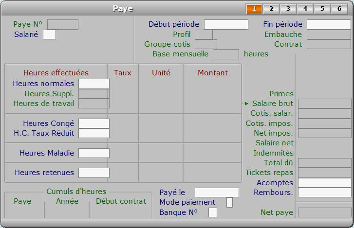 Fiche paye - page 1 - ICIM PAYE