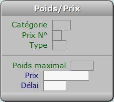Fiche Poids/Prix - ICIM COURSE