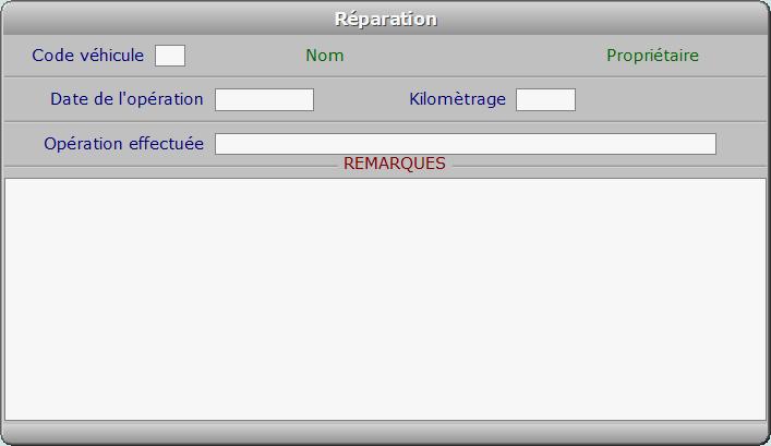 Fiche réparation - ICIM COURSE