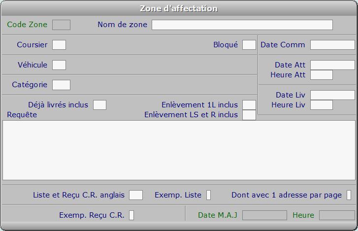 Fiche zone d'affectation - ICIM COURSE